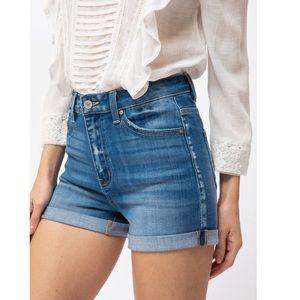 Jean vintage double fold cuff short